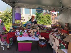 Karen Wentworth with her Fairtrade toy stall