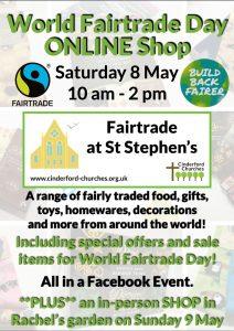 World Fairtrade Day online shop poster.